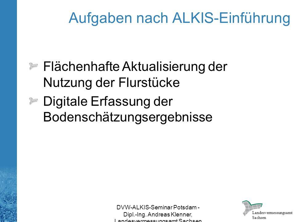 Aufgaben nach ALKIS-Einführung