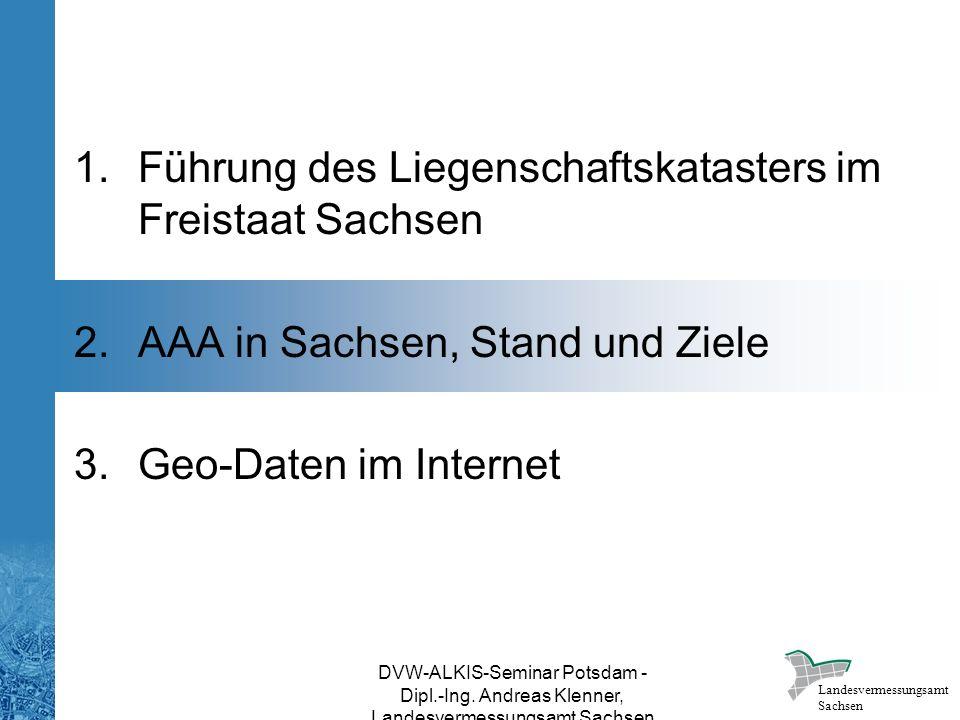 Führung des Liegenschaftskatasters im Freistaat Sachsen