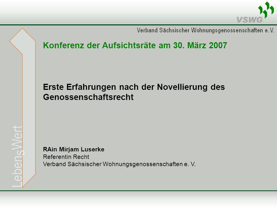 Konferenz der Aufsichtsräte am 30. März 2007