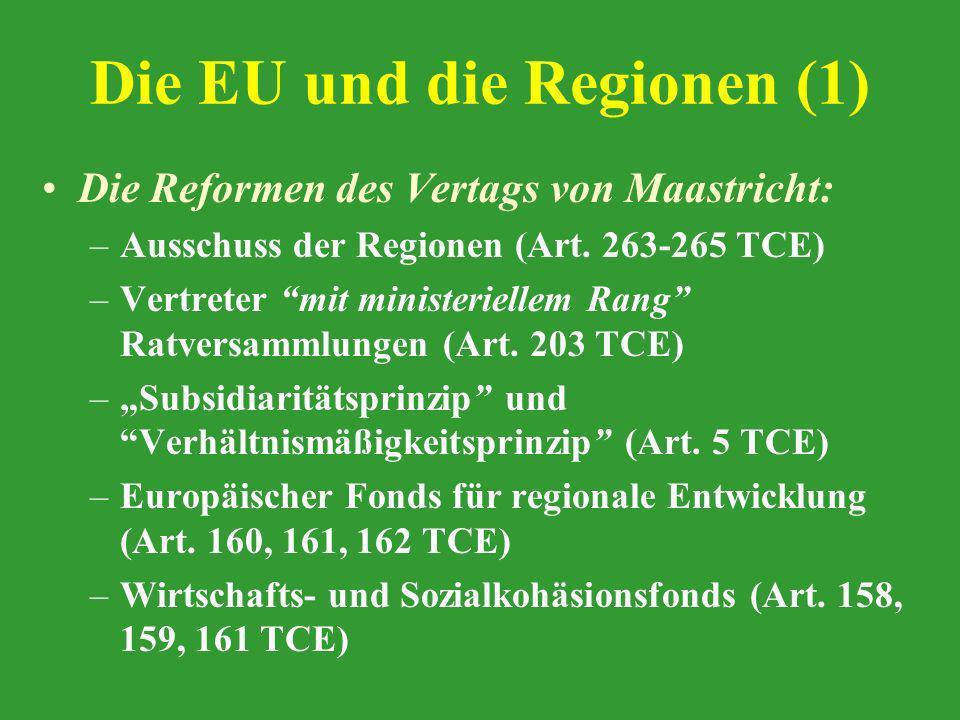 Die EU und die Regionen (1)
