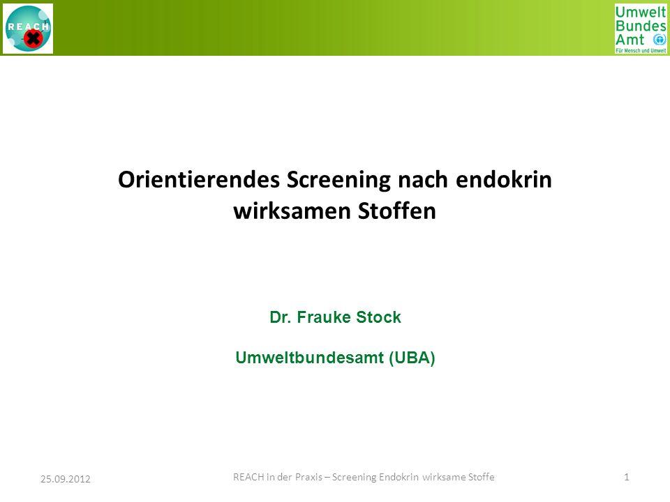 Orientierendes Screening nach endokrin wirksamen Stoffen