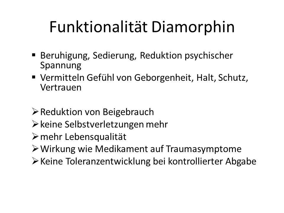 Funktionalität Diamorphin