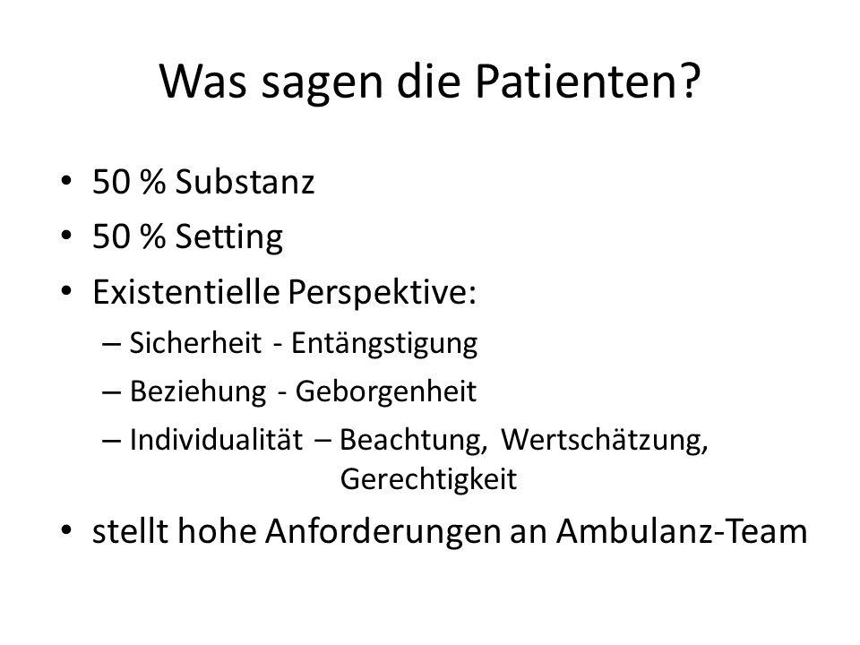 Was sagen die Patienten