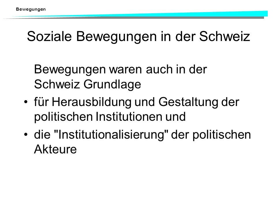 Soziale Bewegungen in der Schweiz