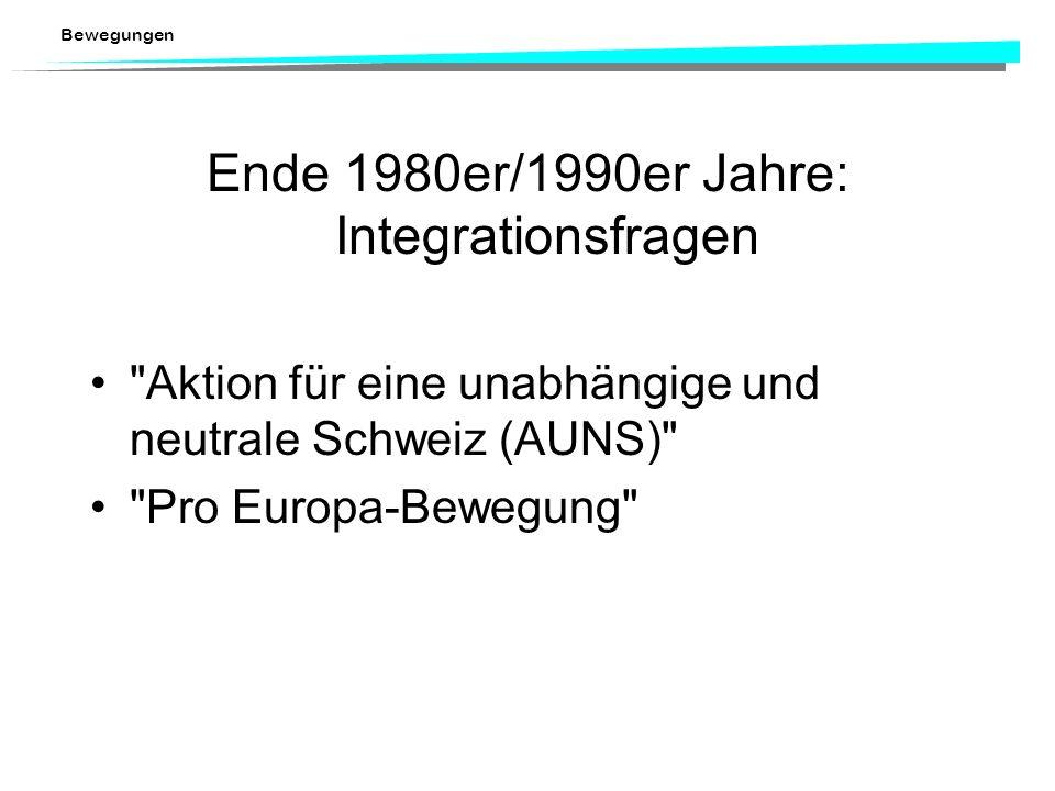 Ende 1980er/1990er Jahre: Integrationsfragen