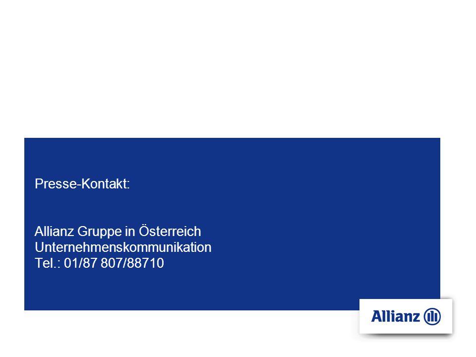 Presse-Kontakt: Allianz Gruppe in Österreich Unternehmenskommunikation Tel.: 01/87 807/88710