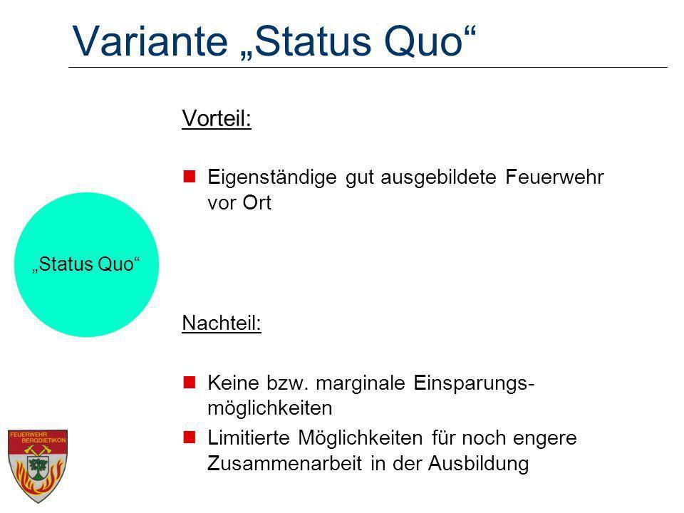 """Variante """"Status Quo Vorteil:"""