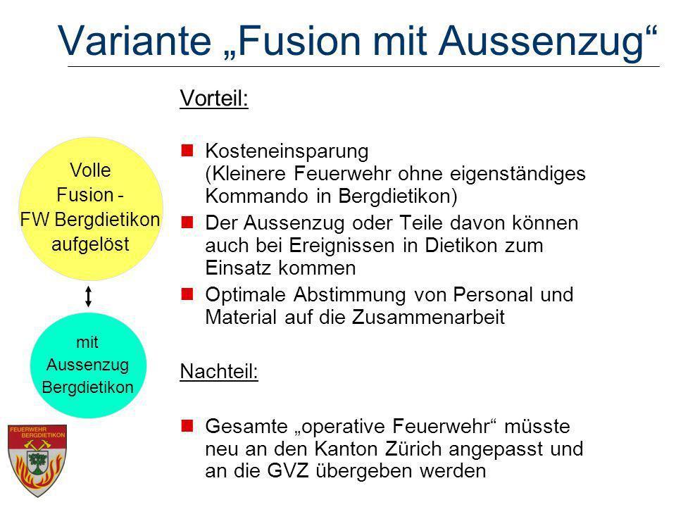 """Variante """"Fusion mit Aussenzug"""