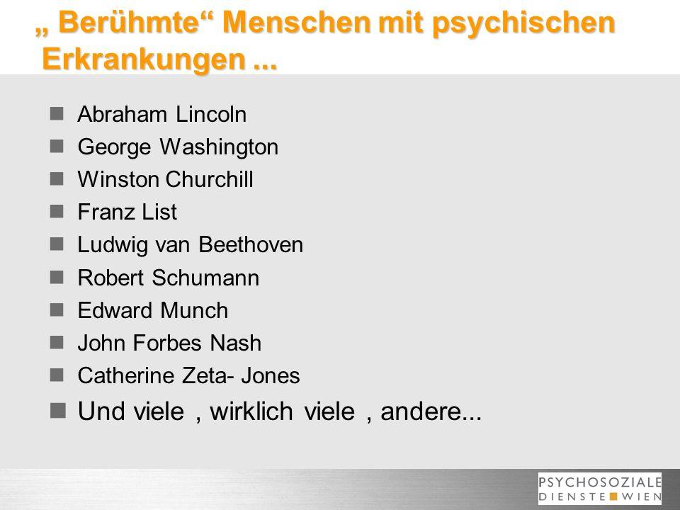 """"""" Berühmte Menschen mit psychischen Erkrankungen ..."""