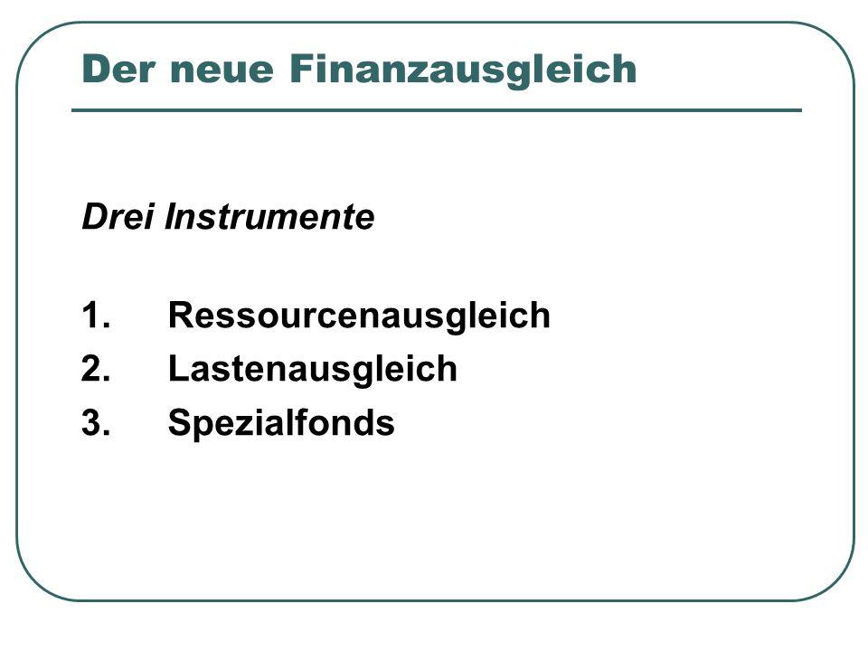 Der neue Finanzausgleich