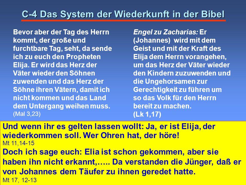 C-4 Das System der Wiederkunft in der Bibel