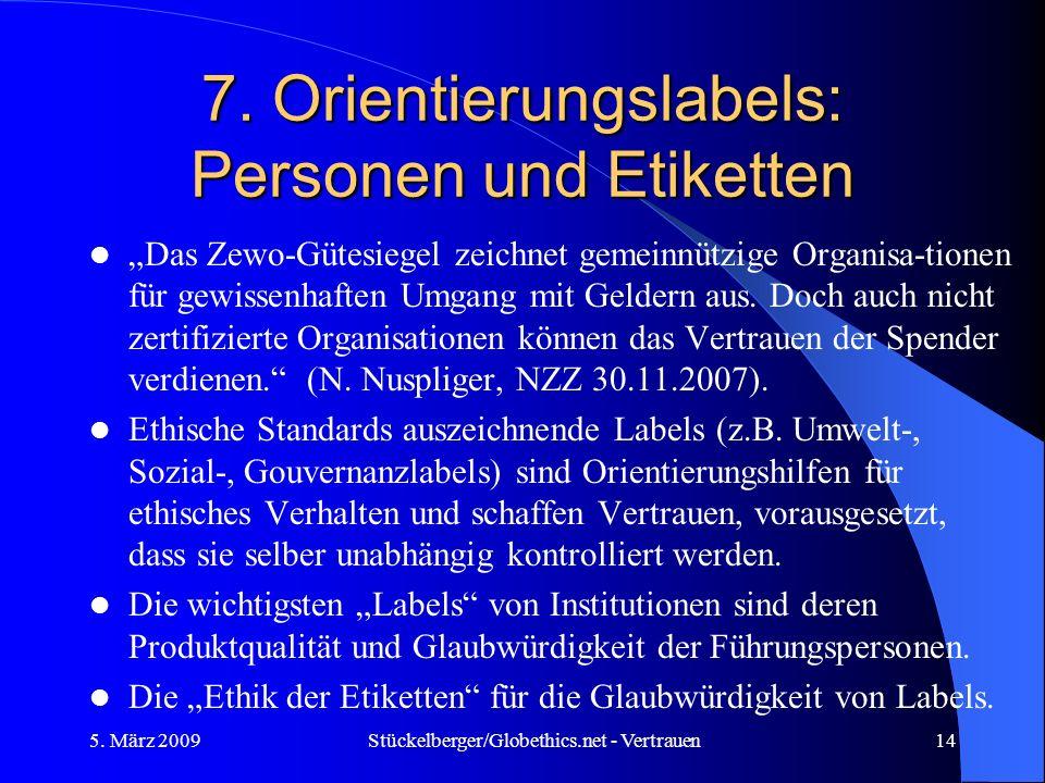 7. Orientierungslabels: Personen und Etiketten