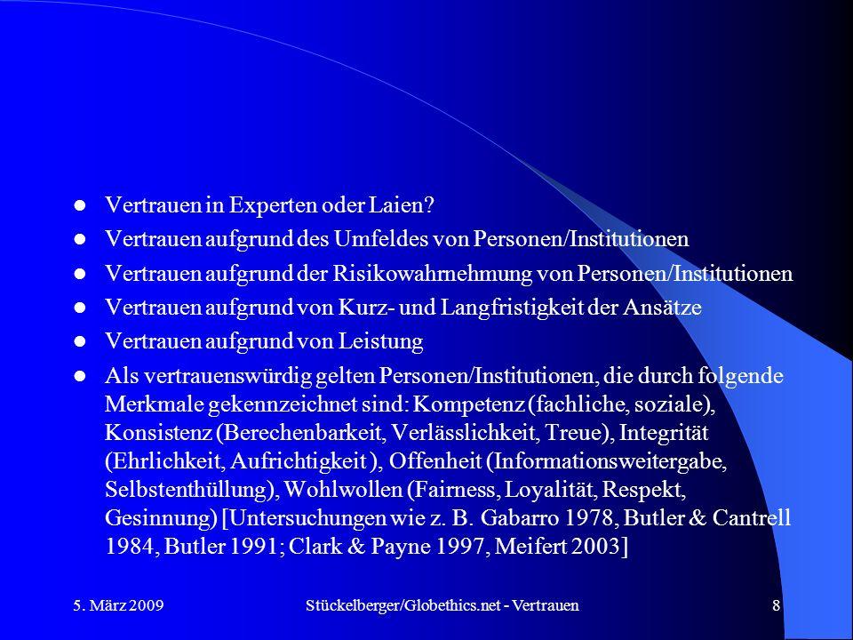 Stückelberger/Globethics.net - Vertrauen