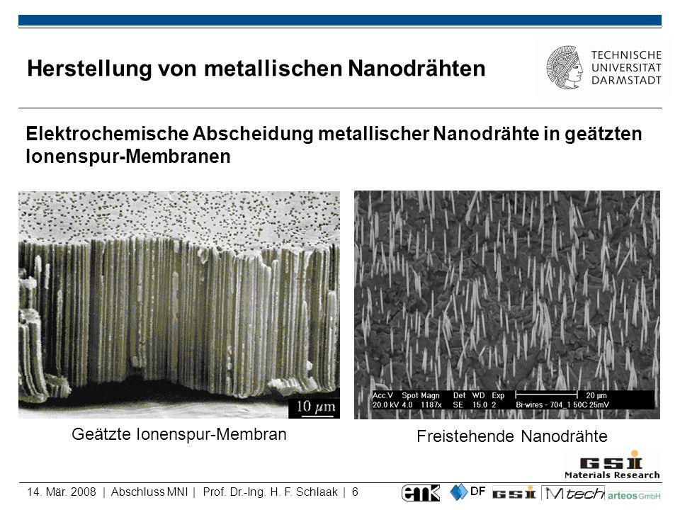 Herstellung von metallischen Nanodrähten