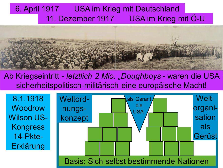 6. April 1917 USA im Krieg mit Deutschland