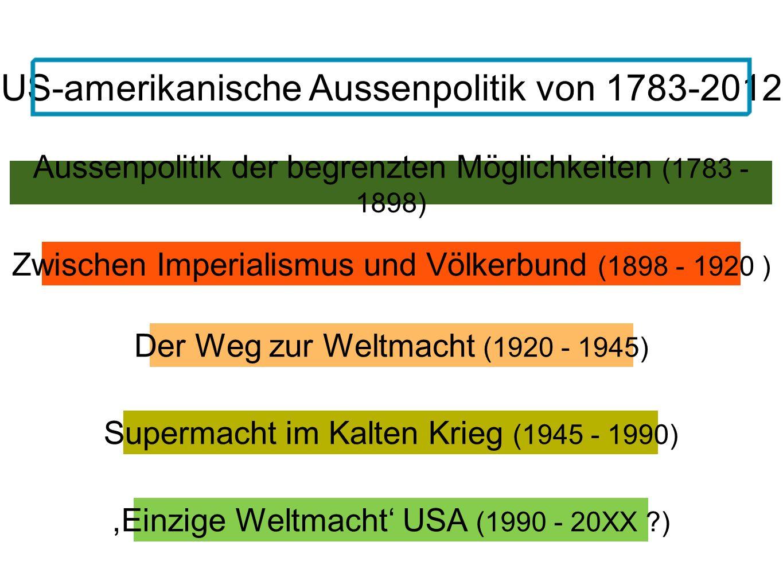 US-amerikanische Aussenpolitik von 1783-2012