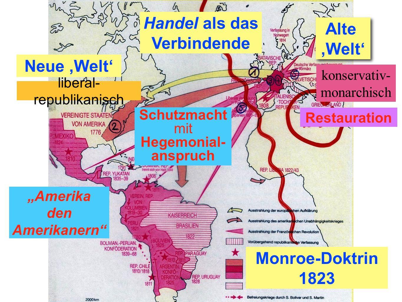 Handel als das Verbindende Alte ,Welt' Neue ,Welt' Monroe-Doktrin 1823