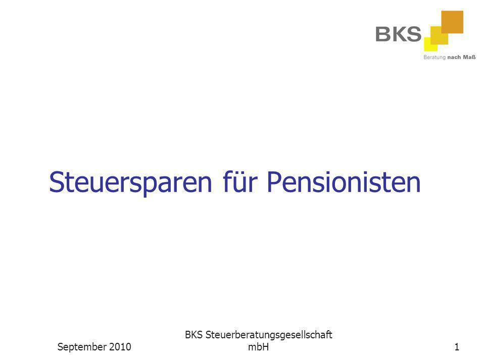 Steuersparen für Pensionisten
