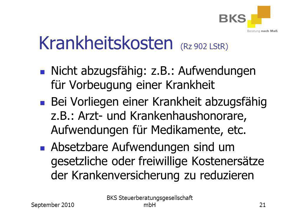 Krankheitskosten (Rz 902 LStR)