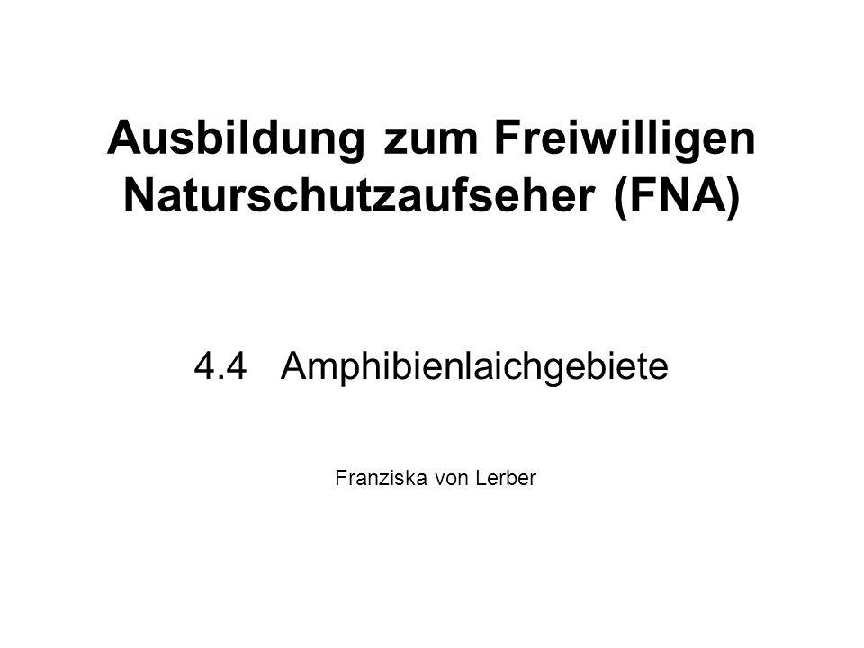 Ausbildung zum Freiwilligen Naturschutzaufseher (FNA)
