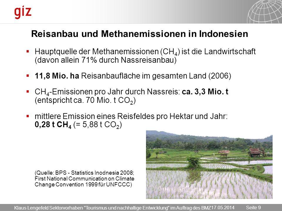 Reisanbau und Methanemissionen in Indonesien