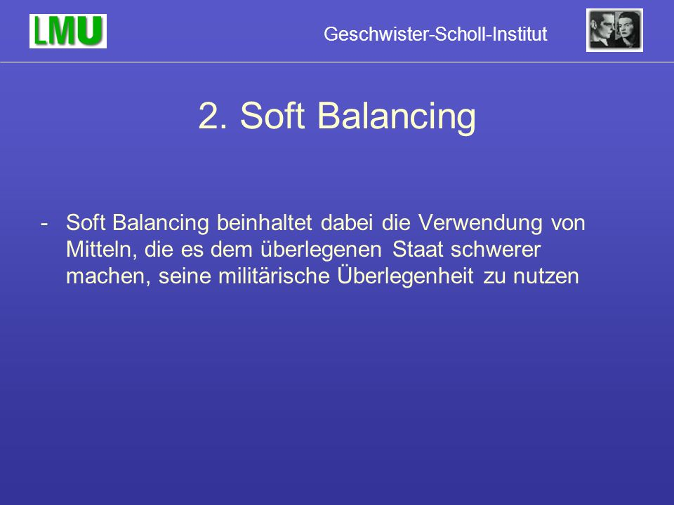 2. Soft Balancing