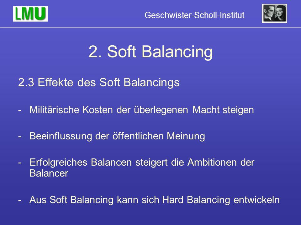 2. Soft Balancing 2.3 Effekte des Soft Balancings