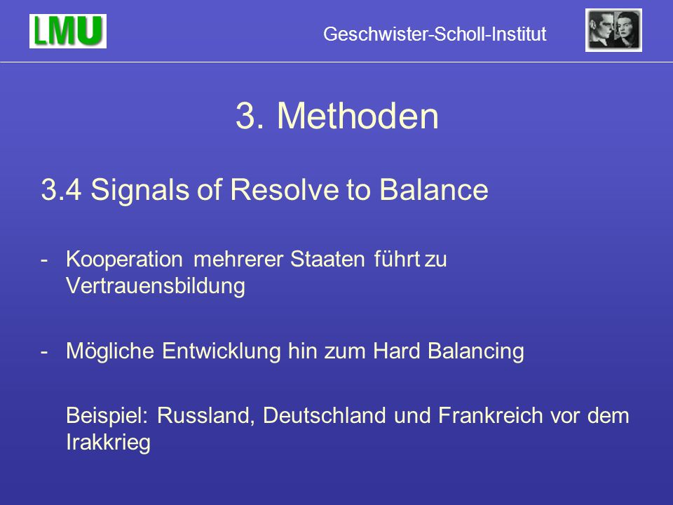 3. Methoden 3.4 Signals of Resolve to Balance