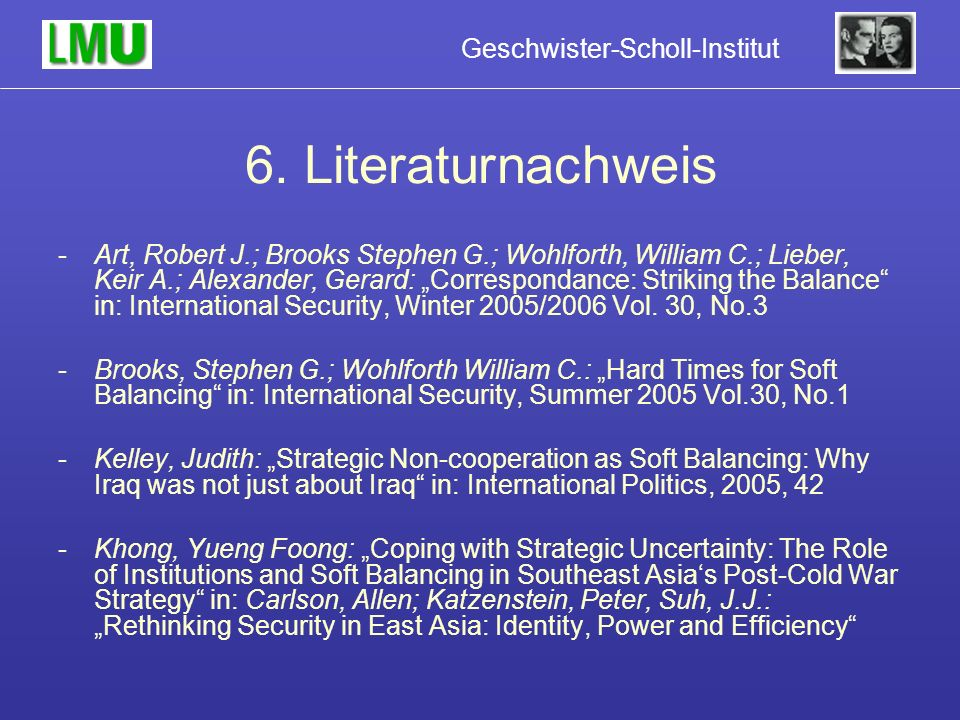 6. Literaturnachweis