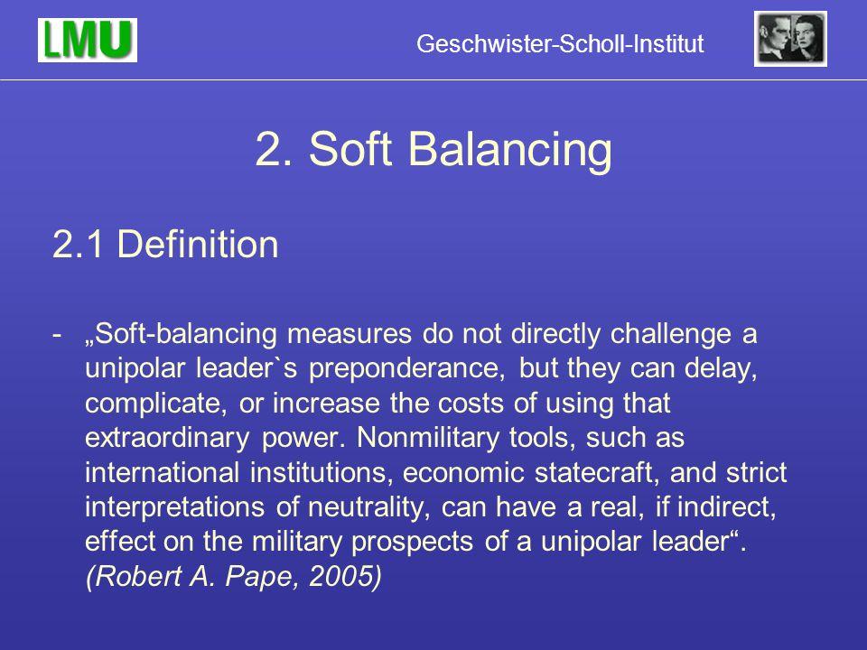 2. Soft Balancing 2.1 Definition