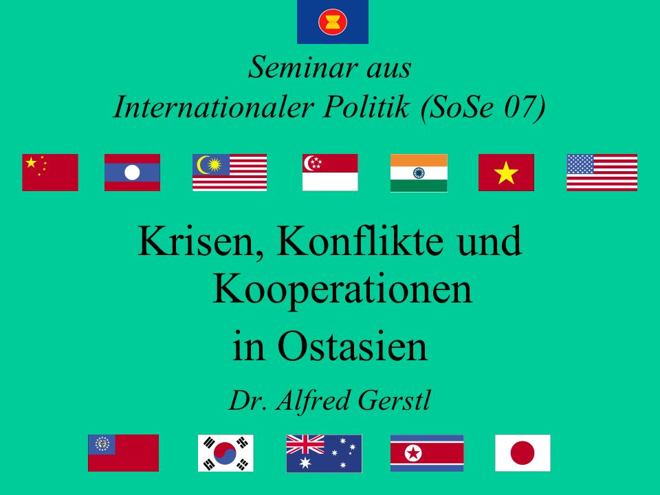 Seminar aus Internationaler Politik (SoSe 07)