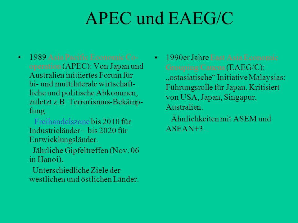 APEC und EAEG/C