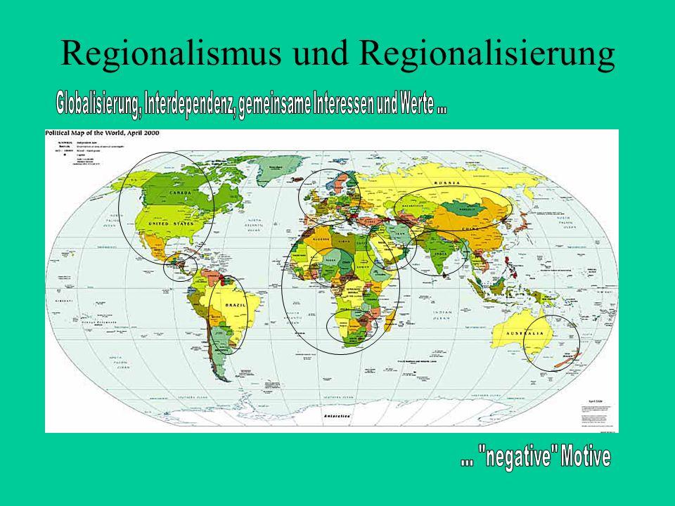 Regionalismus und Regionalisierung