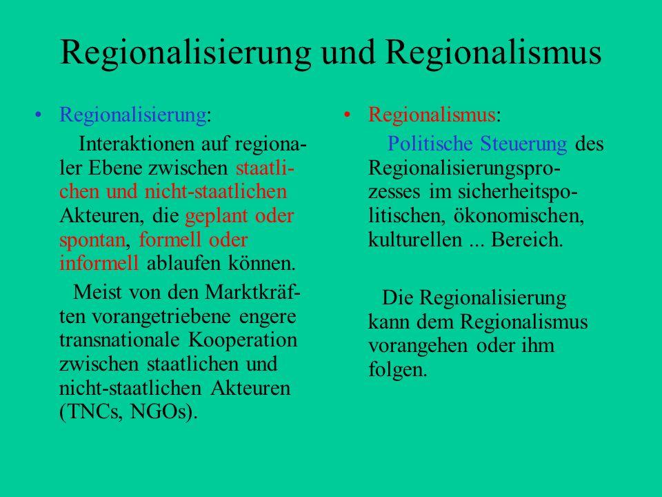 Regionalisierung und Regionalismus