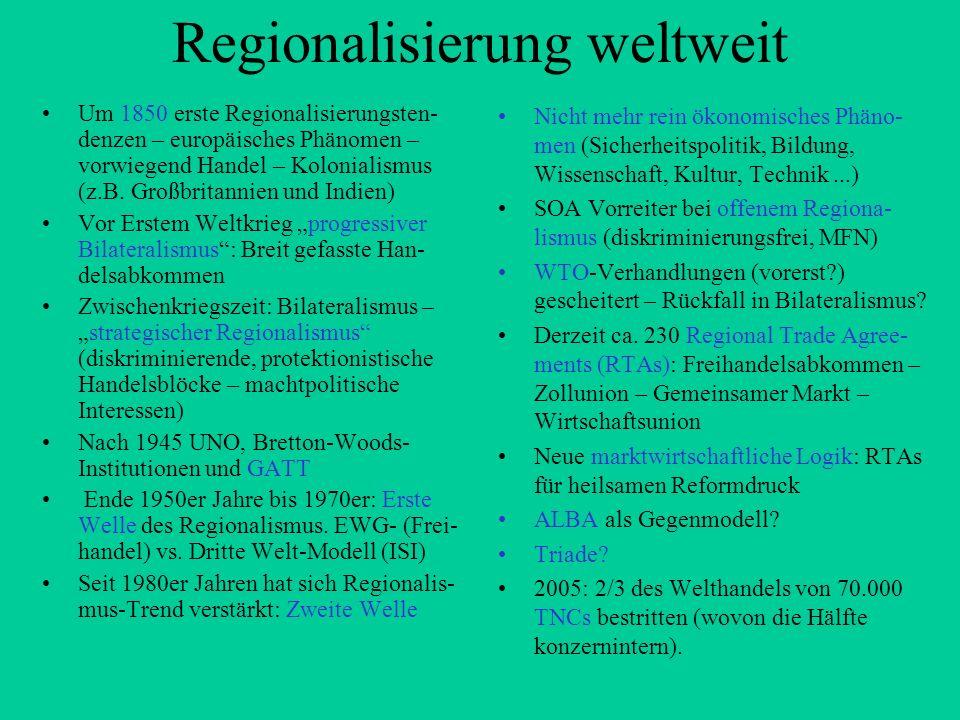 Regionalisierung weltweit