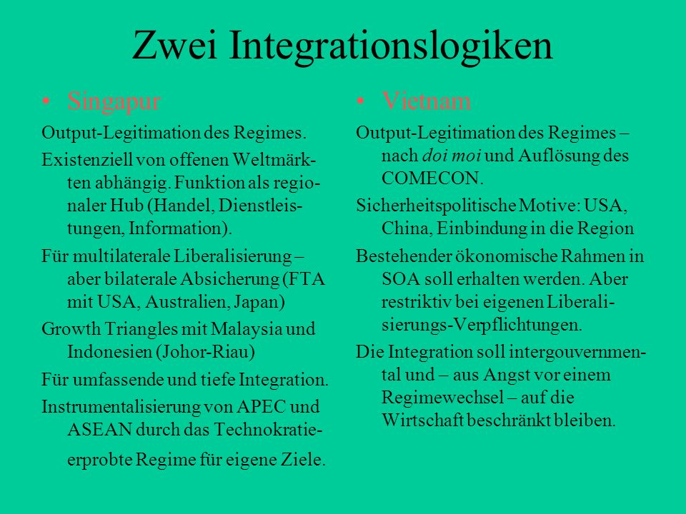 Zwei Integrationslogiken