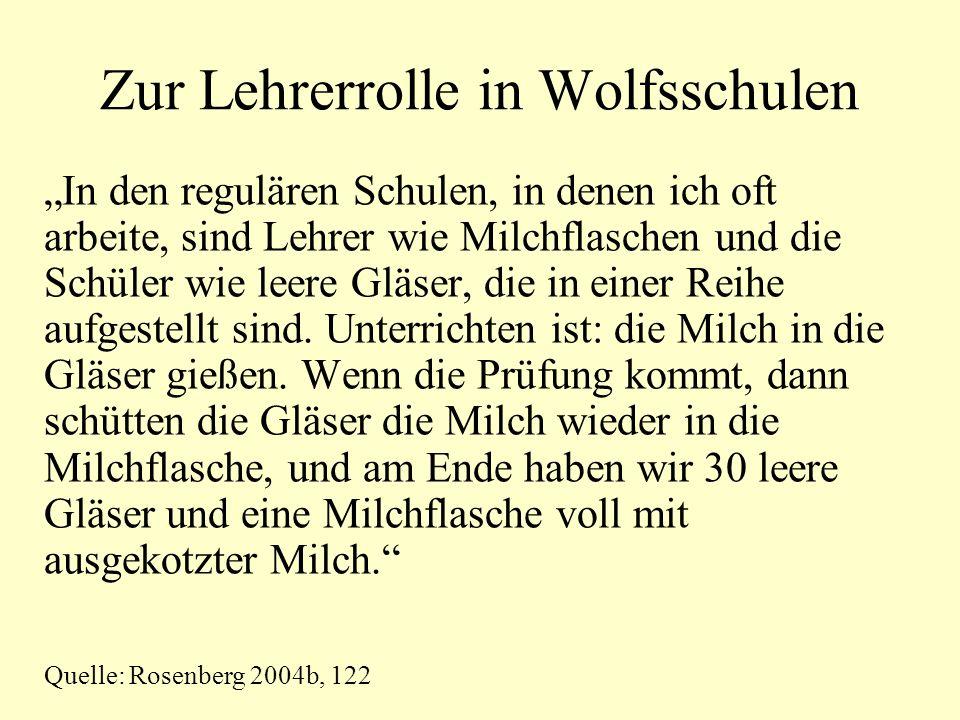 Zur Lehrerrolle in Wolfsschulen