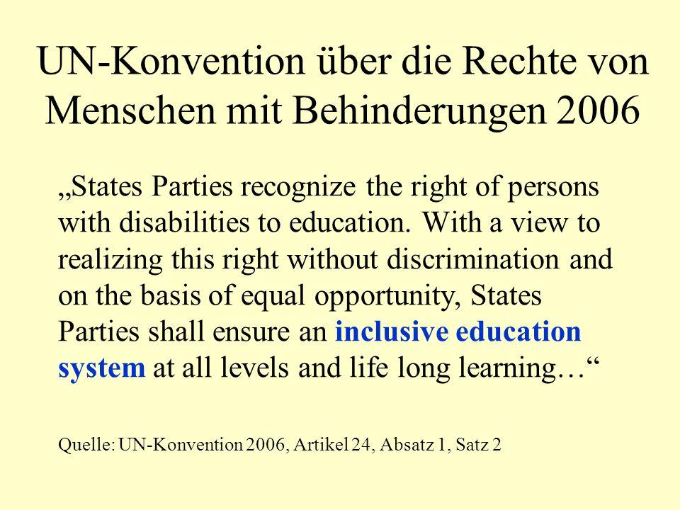 UN-Konvention über die Rechte von Menschen mit Behinderungen 2006