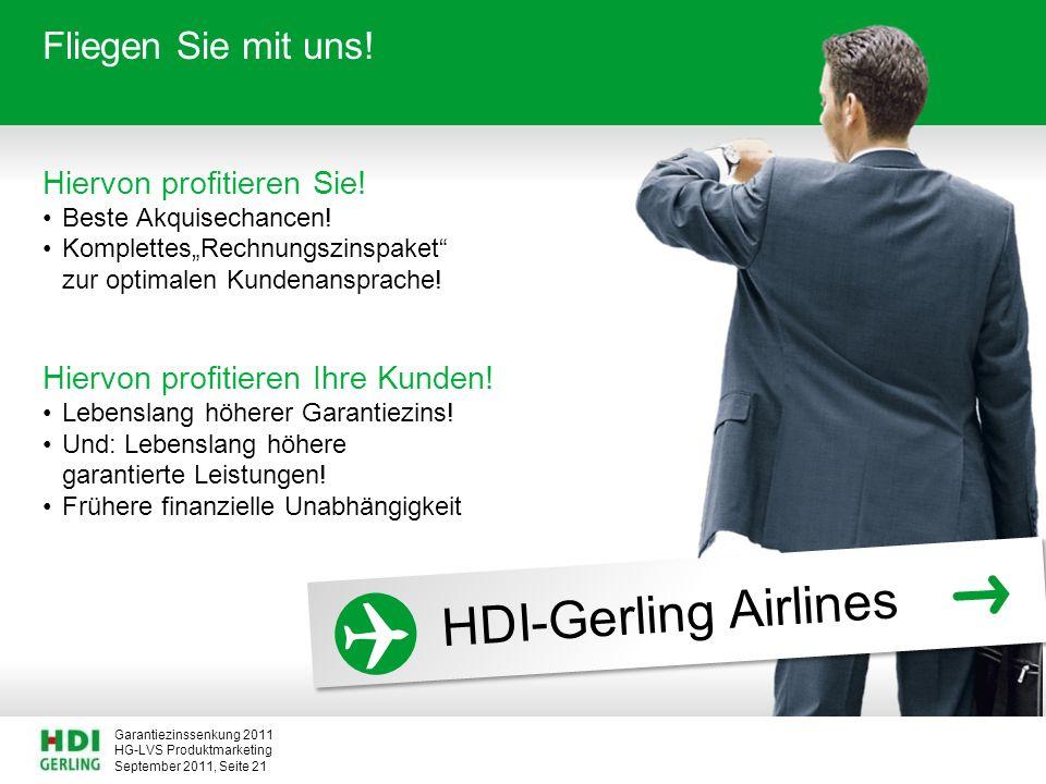 HDI-Gerling Airlines Fliegen Sie mit uns! Hiervon profitieren Sie!