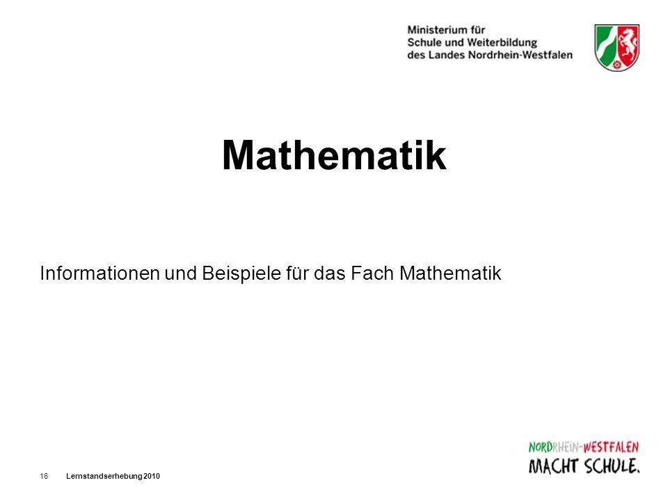 Mathematik Informationen und Beispiele für das Fach Mathematik