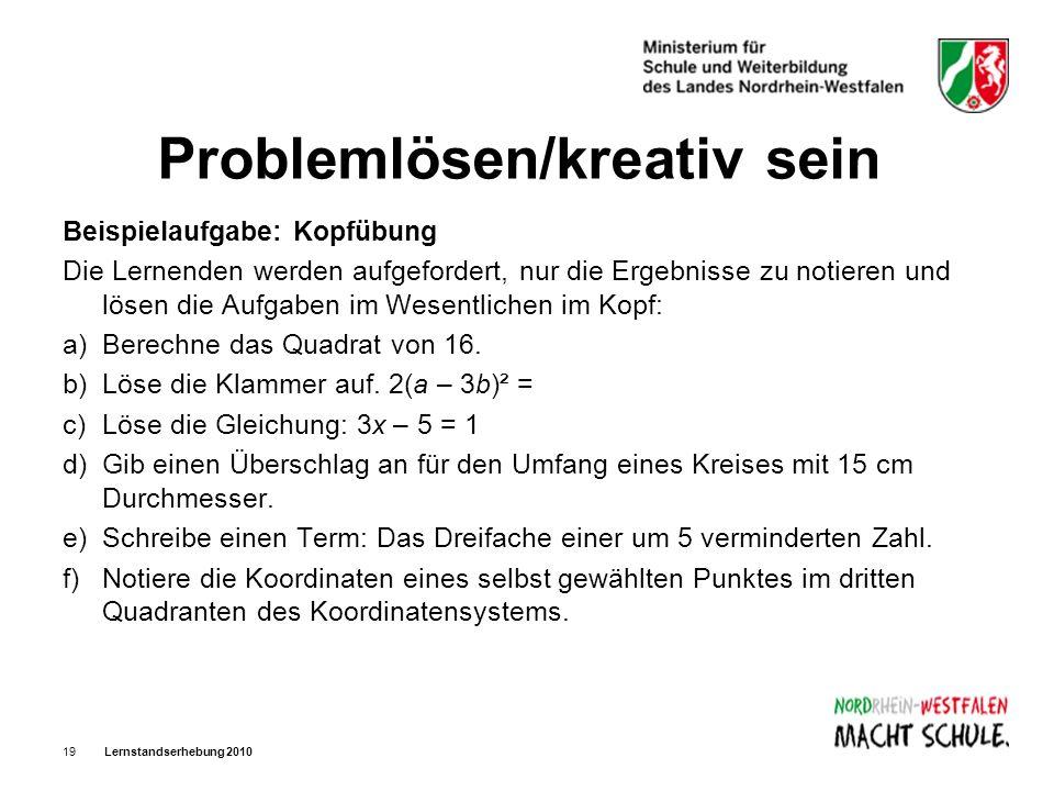 Problemlösen/kreativ sein