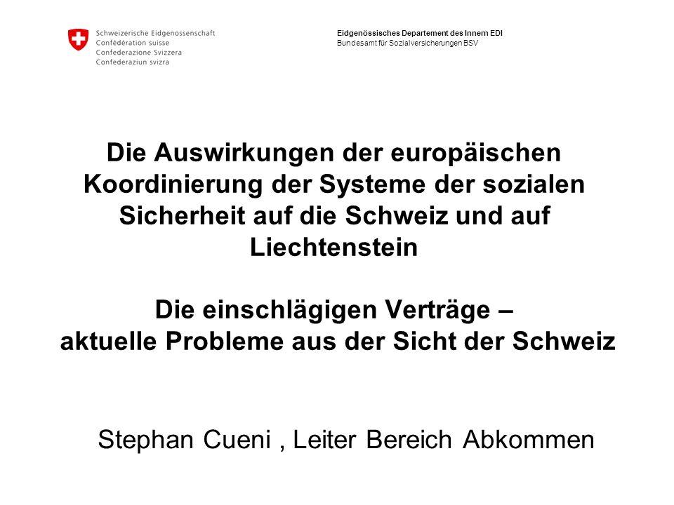 Stephan Cueni , Leiter Bereich Abkommen