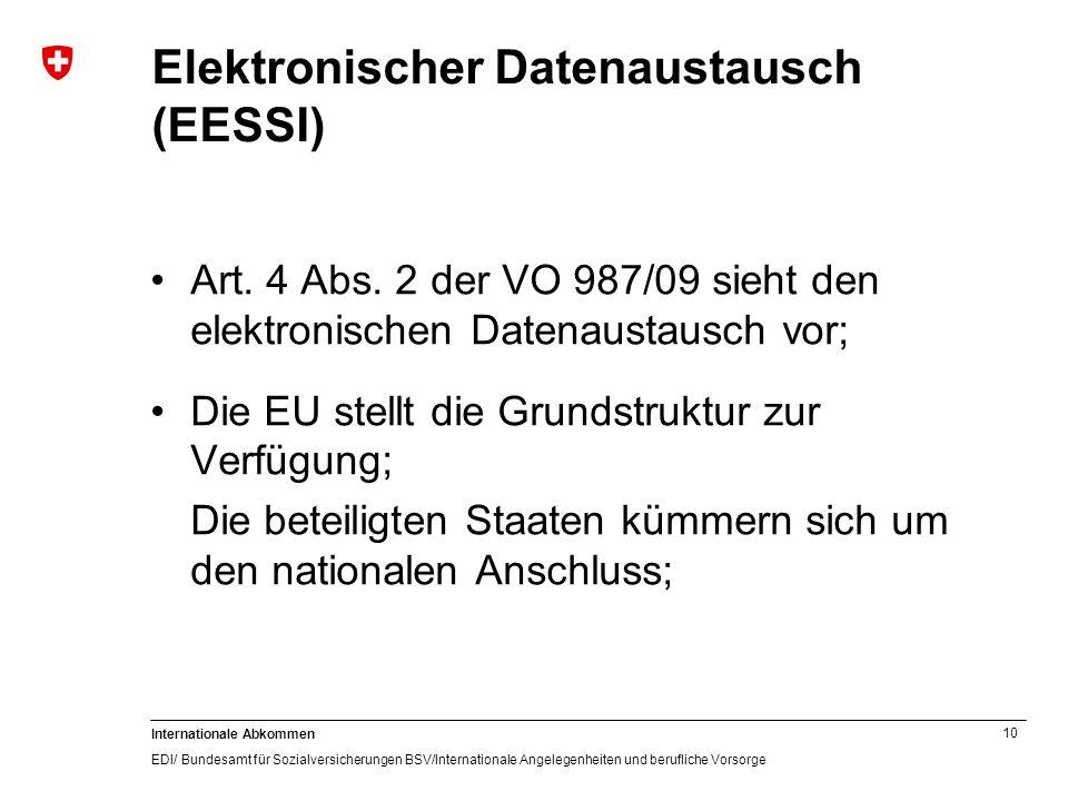 Elektronischer Datenaustausch (EESSI)
