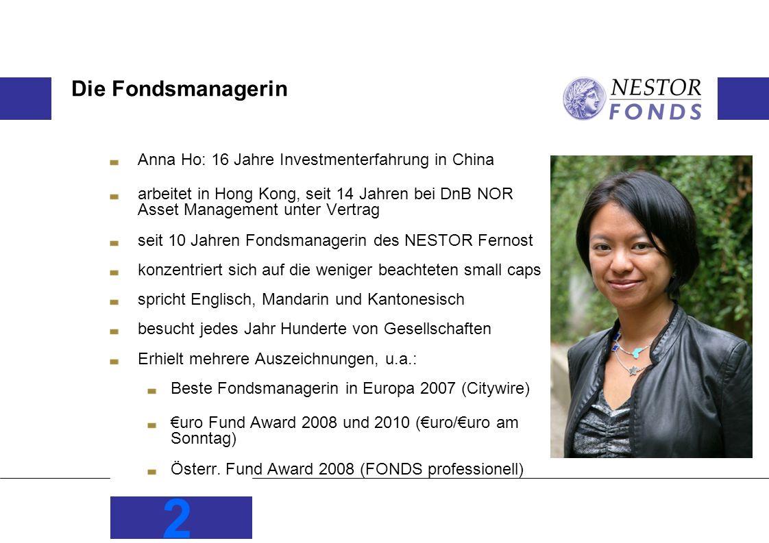 Die Fondsmanagerin Anna Ho: 16 Jahre Investmenterfahrung in China