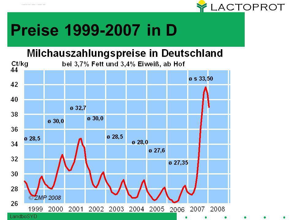 Preise 1999-2007 in D LandboSYD