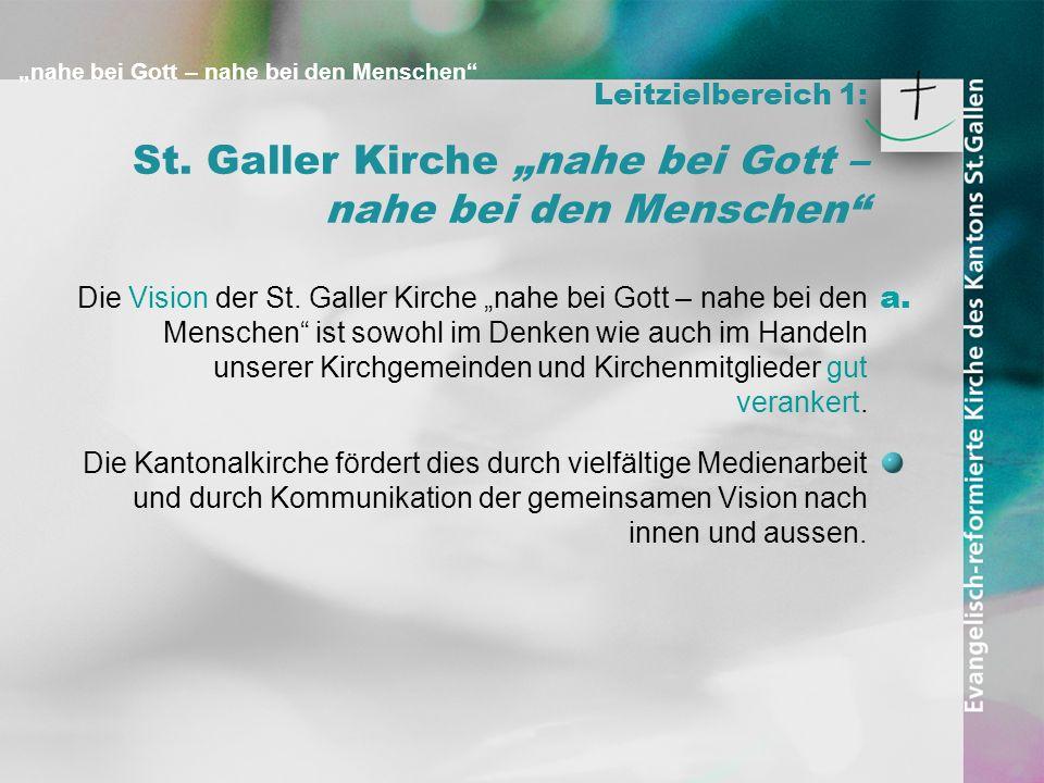 """St. Galler Kirche """"nahe bei Gott – nahe bei den Menschen"""