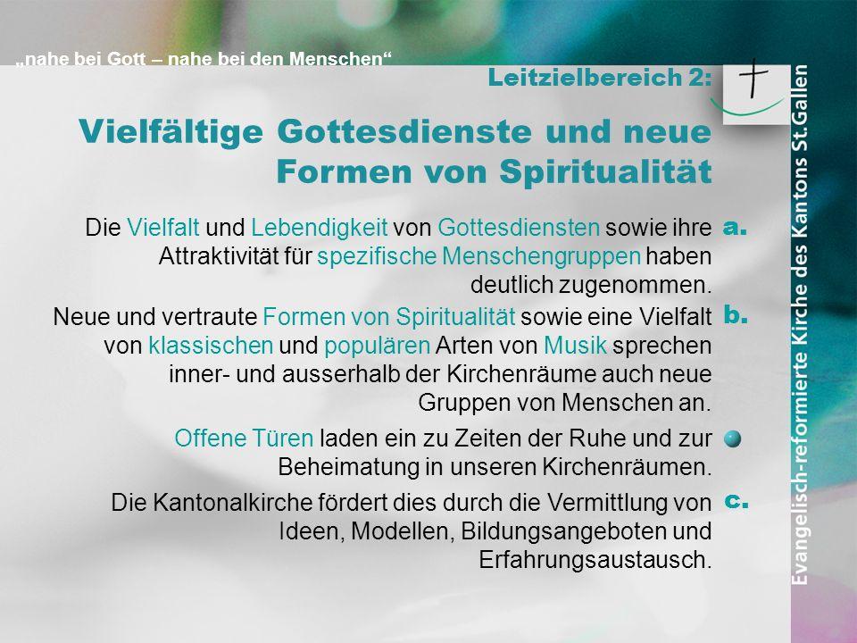 Vielfältige Gottesdienste und neue Formen von Spiritualität