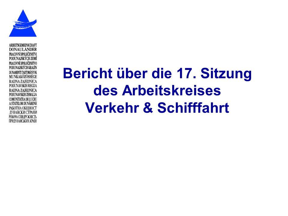 Bericht über die 17. Sitzung des Arbeitskreises Verkehr & Schifffahrt