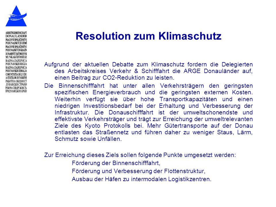 Resolution zum Klimaschutz