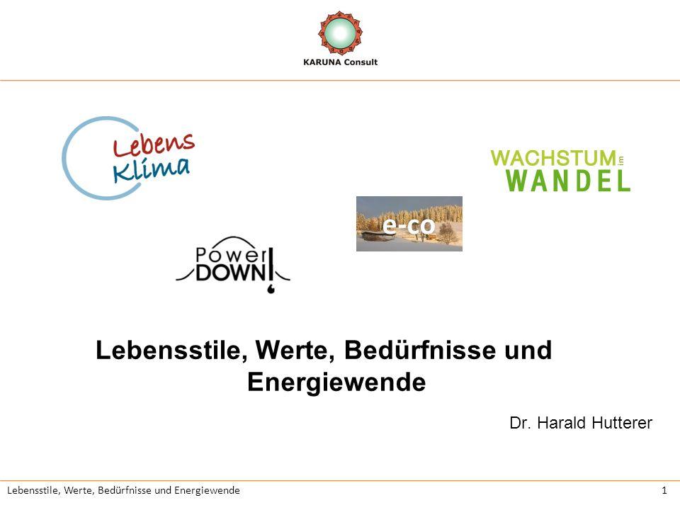 Lebensstile, Werte, Bedürfnisse und Energiewende